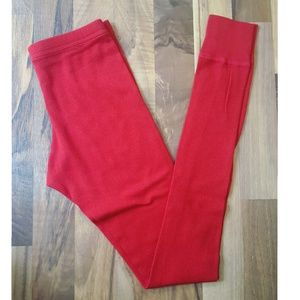 🌻5/$25🌻 AMERICAN APPAREL | Red Thermal Leggings